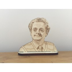 Hand drawn Granville laser cut from plywood.
