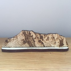 Hand drawn Ben Nevis laser cut from plywood